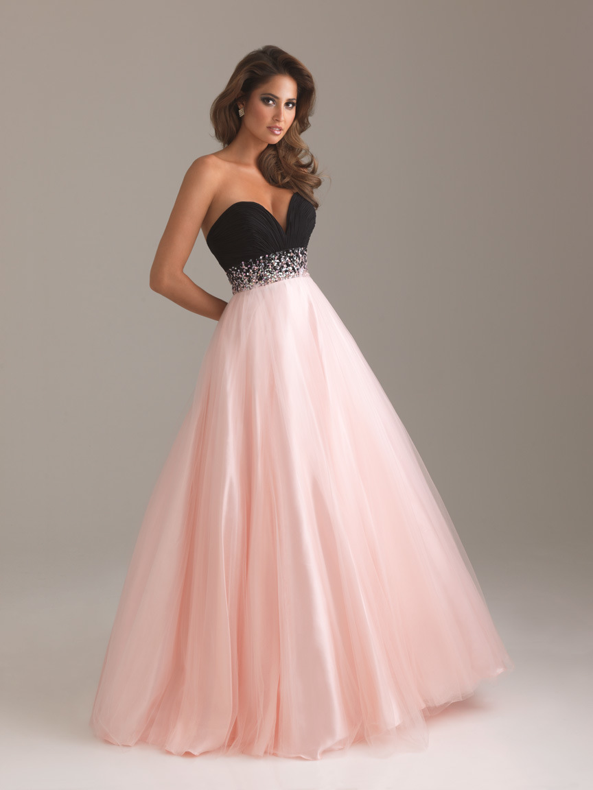 Prom Dresses Pink And Black - Holiday Dresses