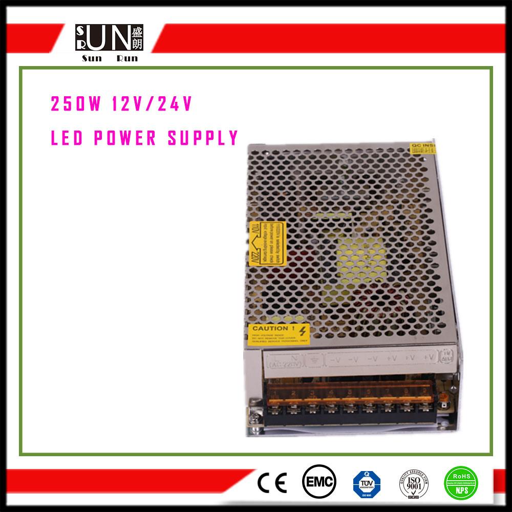 250W Switching Power Supply, 5V 250W 12V 250W 24V 250W 48V 250W LED Power Supply, IP20, IP67, IP65 LED Driver, Waterproof, Non Waterproof LED Driver