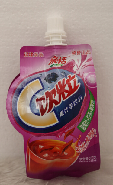 Plastic Stand up Spout Food Retort Pouch for Juice Packaging