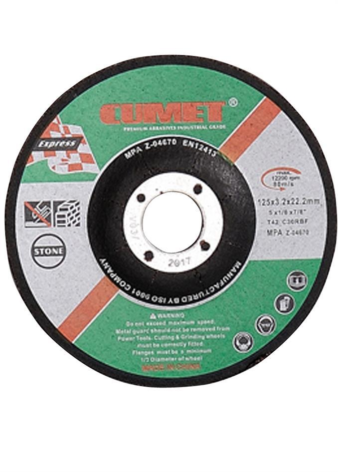 Flat Center Cutting Disc for Stone (125X3.2X22.2mm) Abrasive with MPa Certificates
