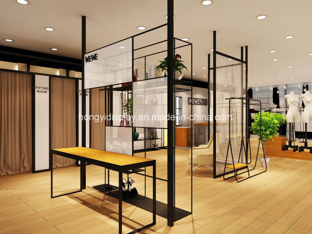 Uncategorized Clothing Store Decoration china ladies clothing store display design for clothes shop decoration