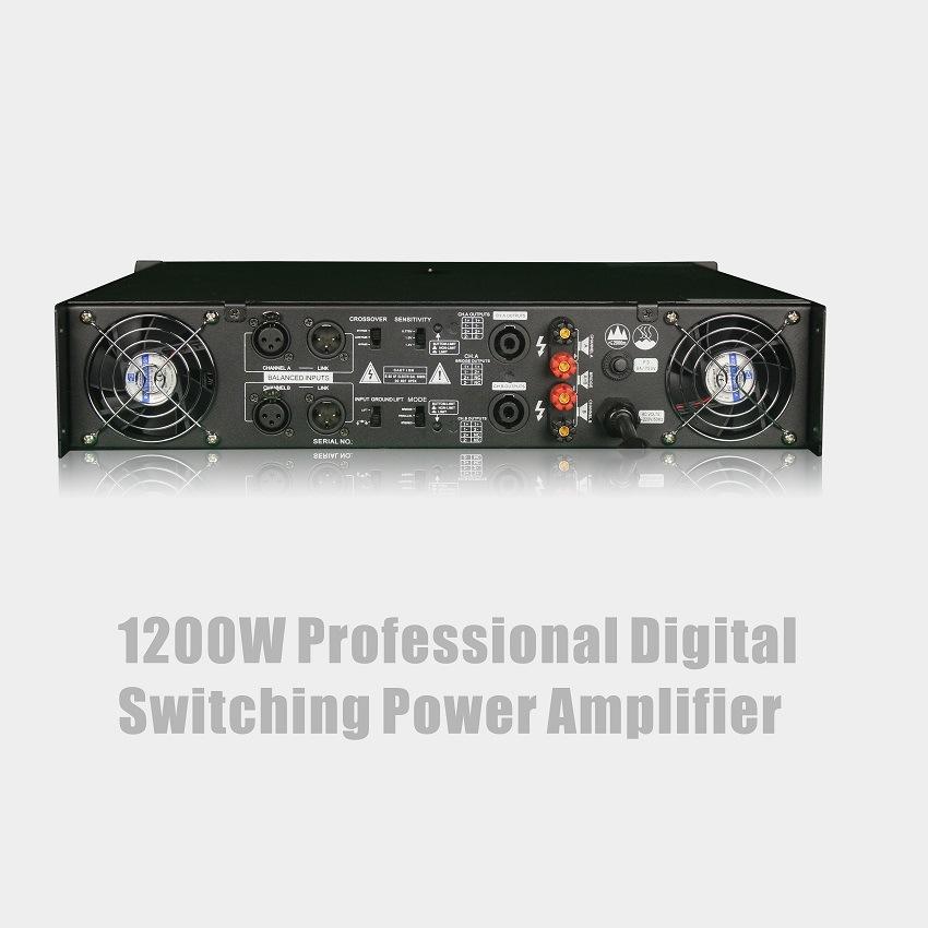 Professional Digital Switching Power Amplifier 1200W
