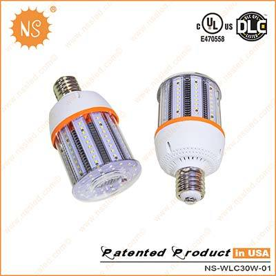 UL Dlc VDE Listed 4500lm IP54 E27 E40 30W LED Corn Light