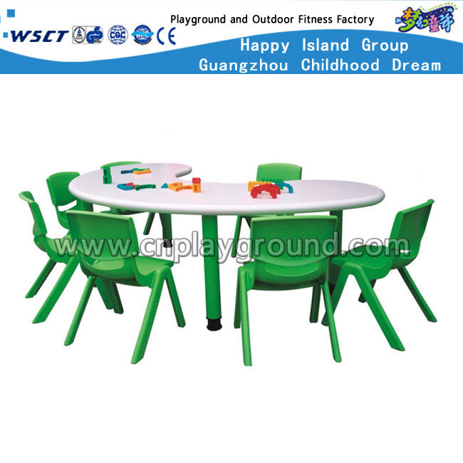 Kindergarten Plastic Chair and Table Furniture in School (HLD-2306)