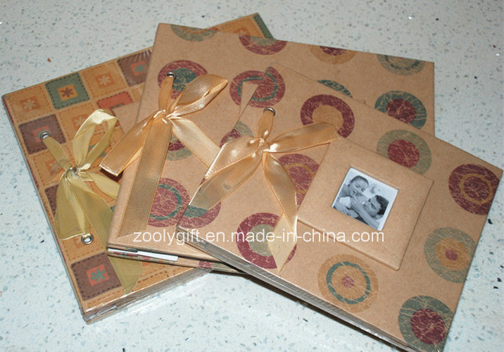 8 X 8 / 12 X 12 Printed Kraft Cover Scrapbook Albums