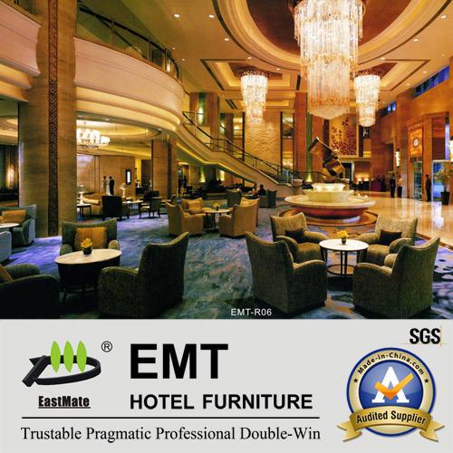 New Design Hotel Lobby Dining Set Coffee Table+ Sofa (EMT-R-06)