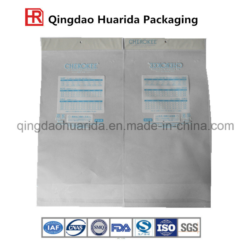 Garment Packaging Pouch with Zipper Lock