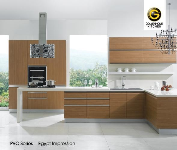 Egypt Impression PVC Wood Kitchen Cabinet - China Pvc Wood Kitchen ...