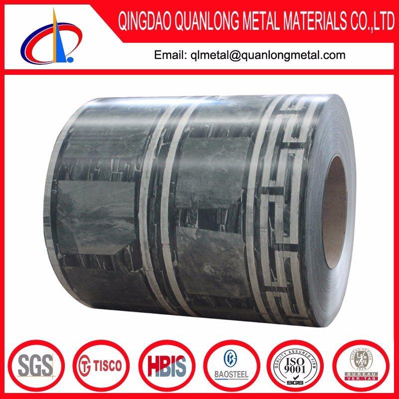 Gray Red Brick Pattern Printing PPGI Steel Coil