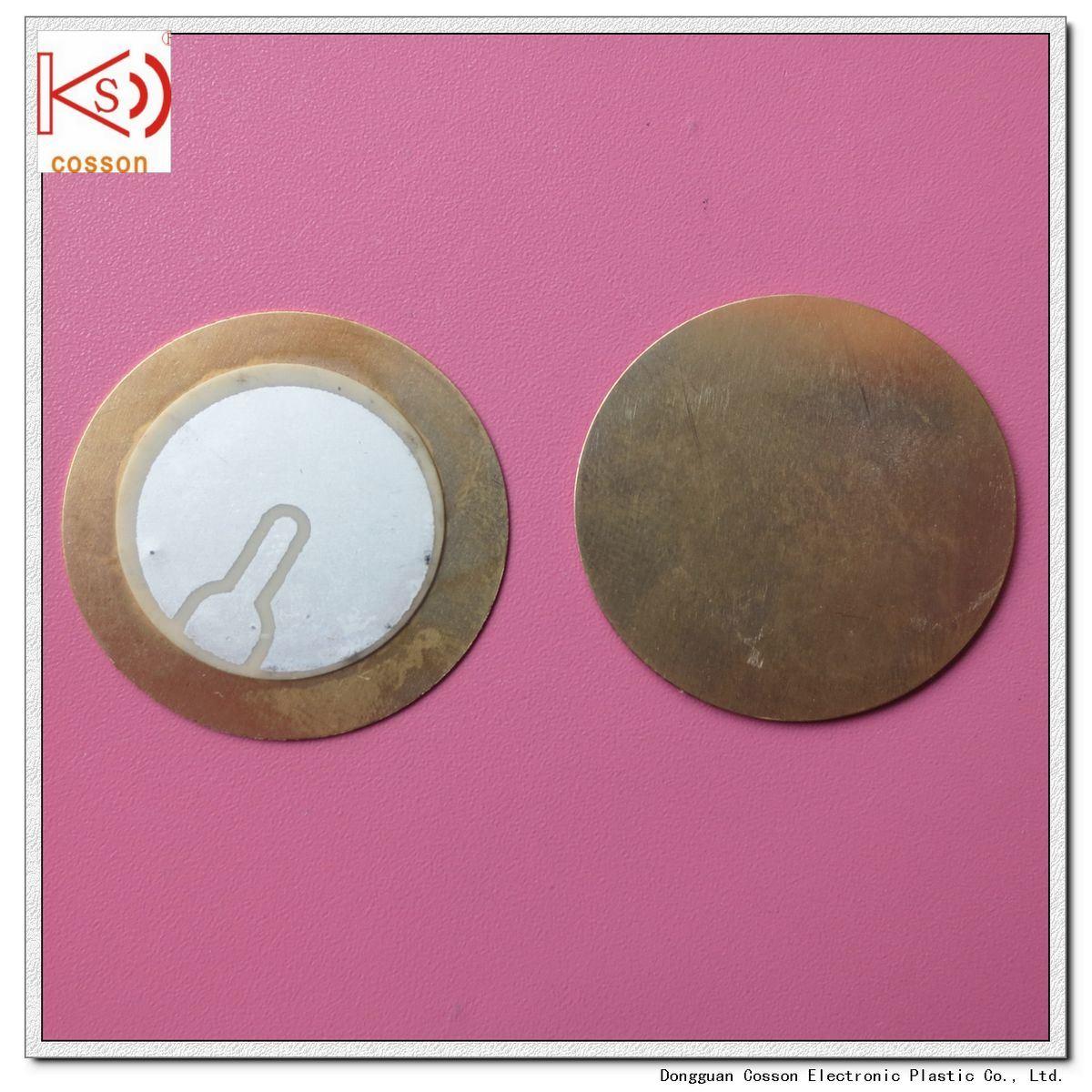 27mm Piezo Ceramic Element 3pin Iron Brass Pieze Buzzer