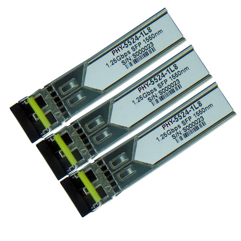 1.25gbps Dual Fiber SFP Optical Transceiver 1310nm 20km (PHY-8525-1LS)