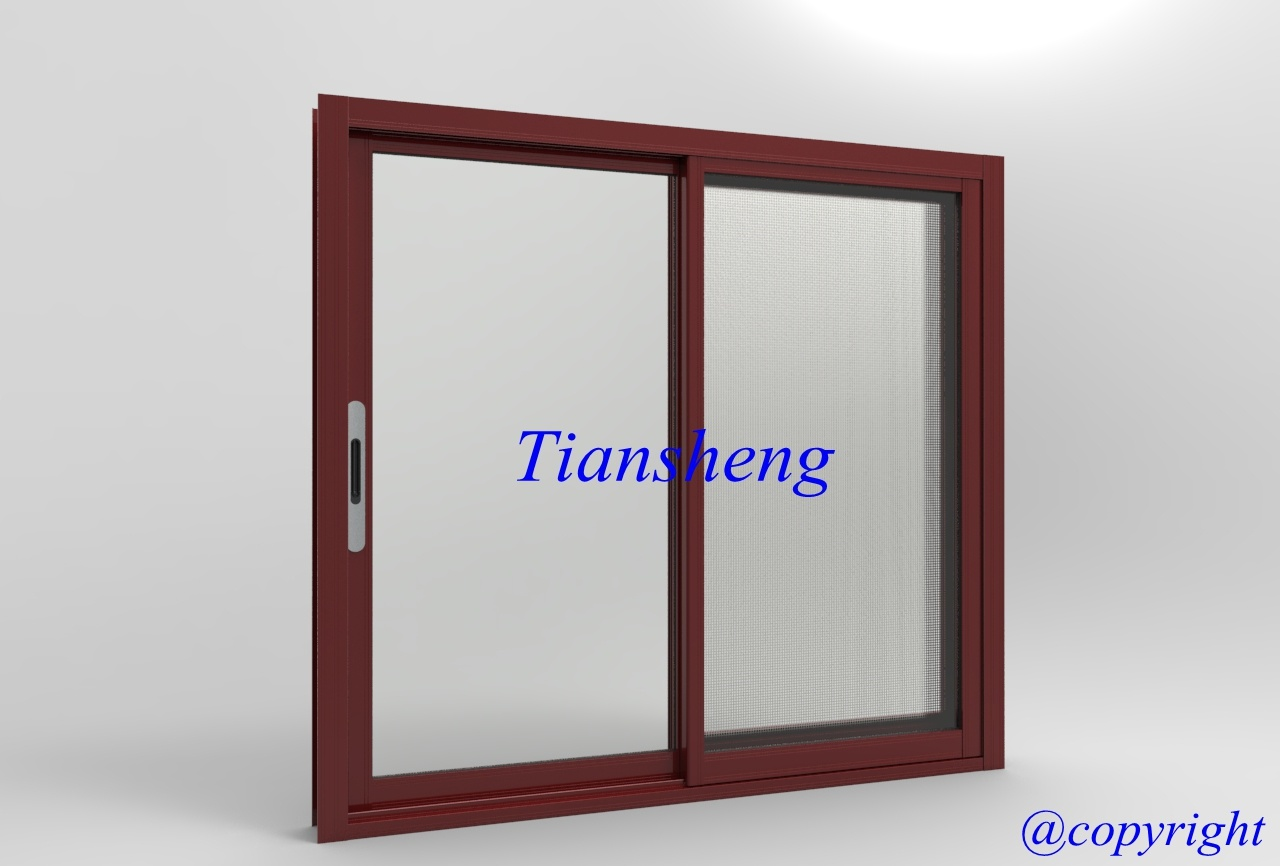 Customized High Quality Residential Style Aluminum Sliding Window with Flyscreeen