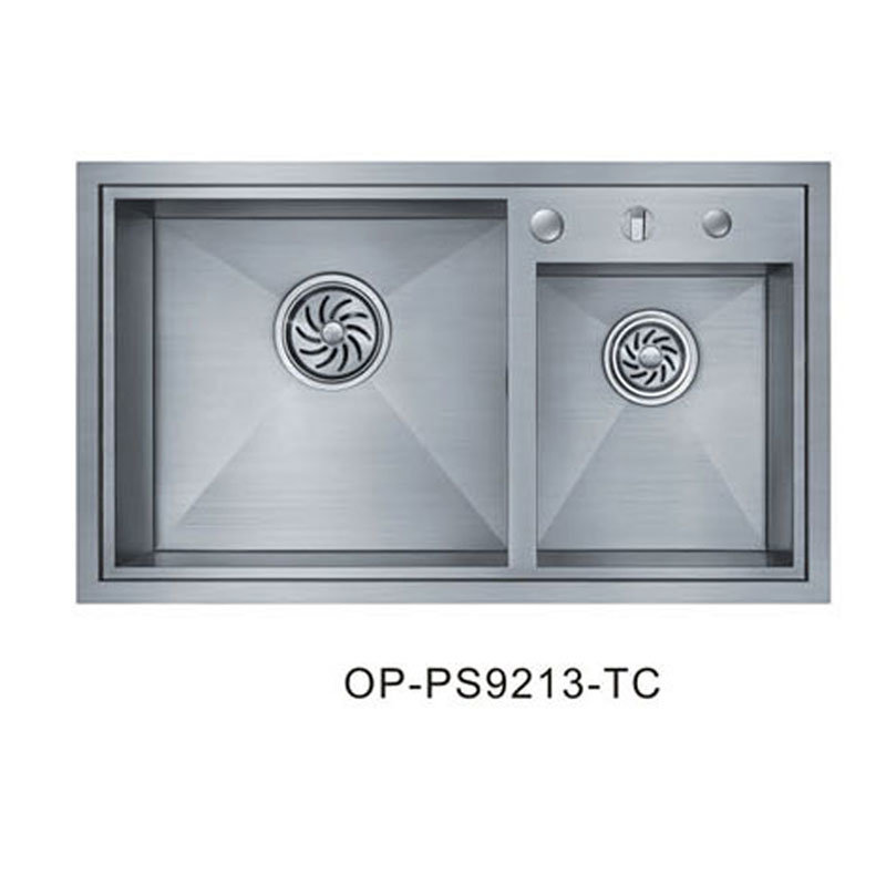Oppein Modern Brushed Stainless Steel Kitchen Sink (OP-PS9213-TC)
