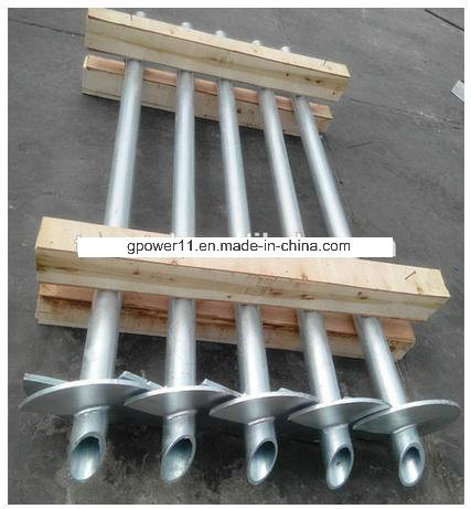 Round Shaft Earth Screw Pile Screw Anchor