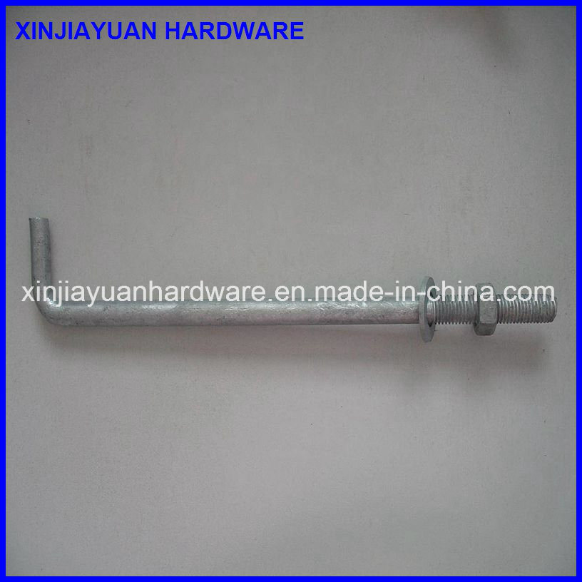 L Type Anchor Bolt / L Foundation Bolt with Nuts