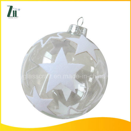 2016 Clear Christmas Glass Ornament Ball