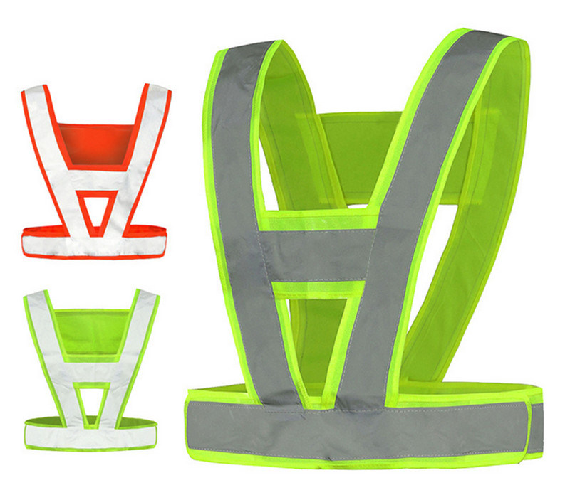 Thick V Shape Reflective Traffic Police Ride Clothes Safety Sanitation Construction Vest