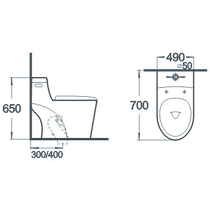 Sanitary Ware Water Closet Bathroom One Piece Ceramic Toilet