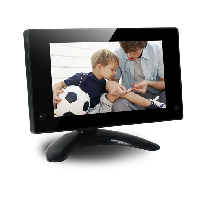 7inch Digital Photo Frame with Table Stander with High Resolution; High Resolution Video Loop Video