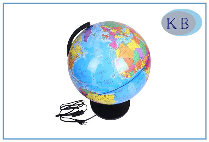 32cm PVC World Globes with LED Light