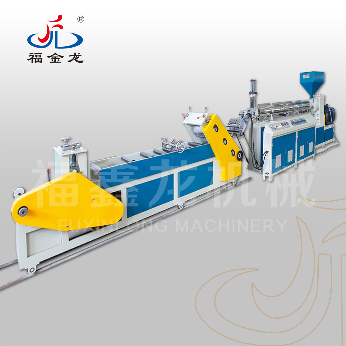 Diagonal Mono-Layer Plastic Sheet Extruder (PP/PS/PE)