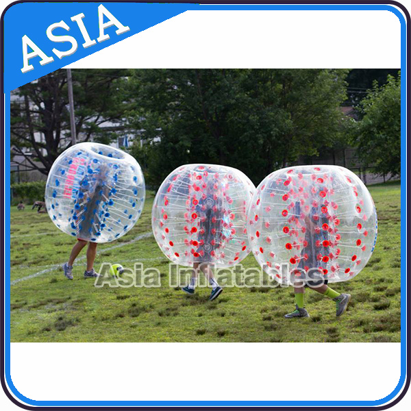 Inflatable Bubble Soccer Balls, Durable Bumper Ball with Colorful Dots