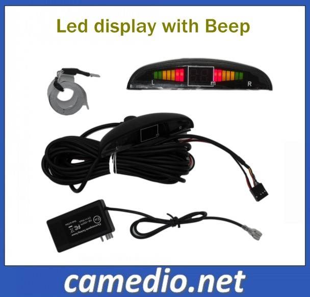 LED Display Auto Electromagnetic Parking Sensor with No-Drill& No-Damage