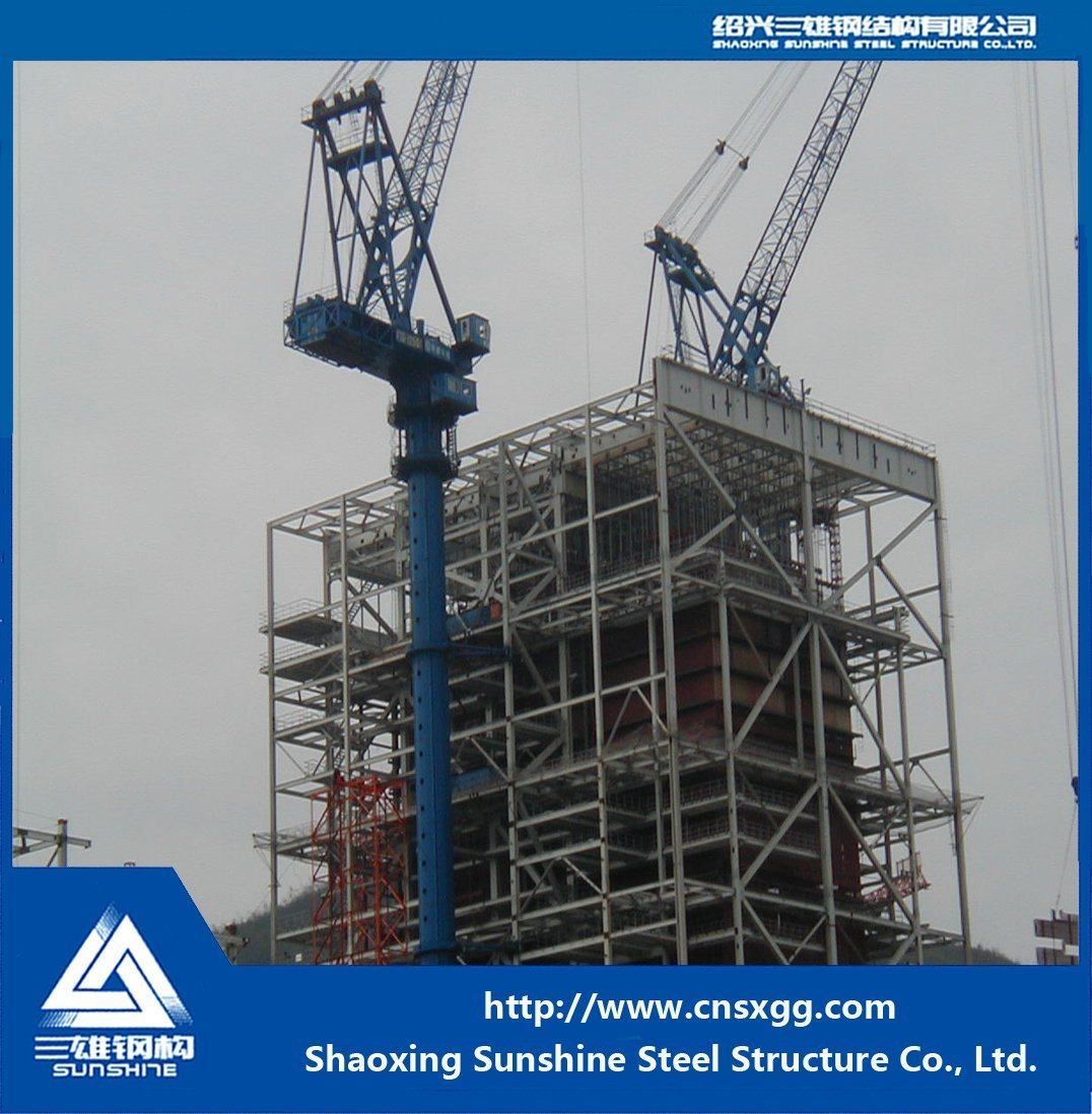Power Plant Steel Structure with Q345 Steel for Steel Building