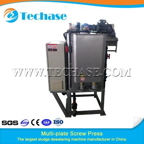 Multi-Plate Screw Press Sewage Treatment Device for Eletroplating Industry Better Than Belt Press