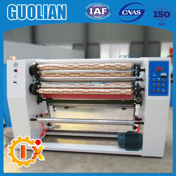 Gl-215 China Factory BOPP Seal Gum Tape Slitting Machine Taiwan