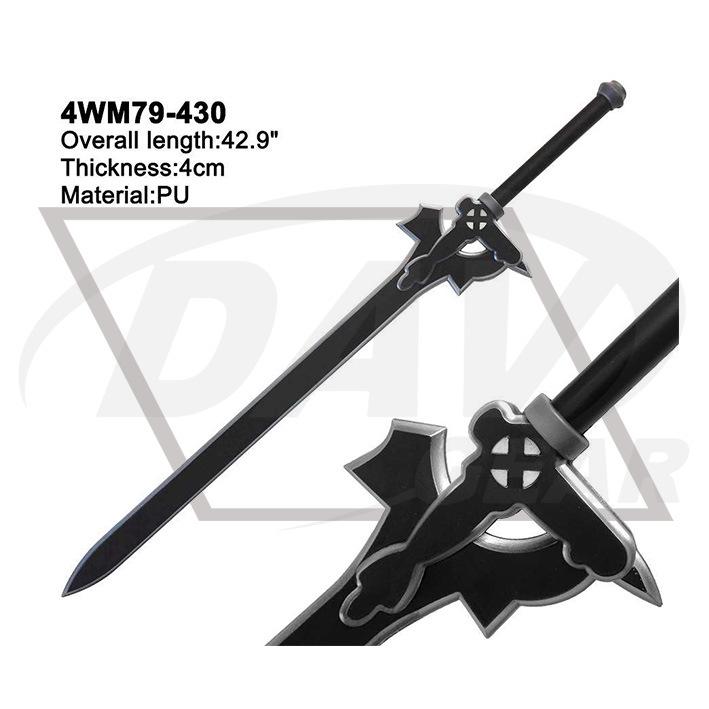 "42.9"" Overall Black Foam Sword From Sword Art Onlin: 4wm79-430"