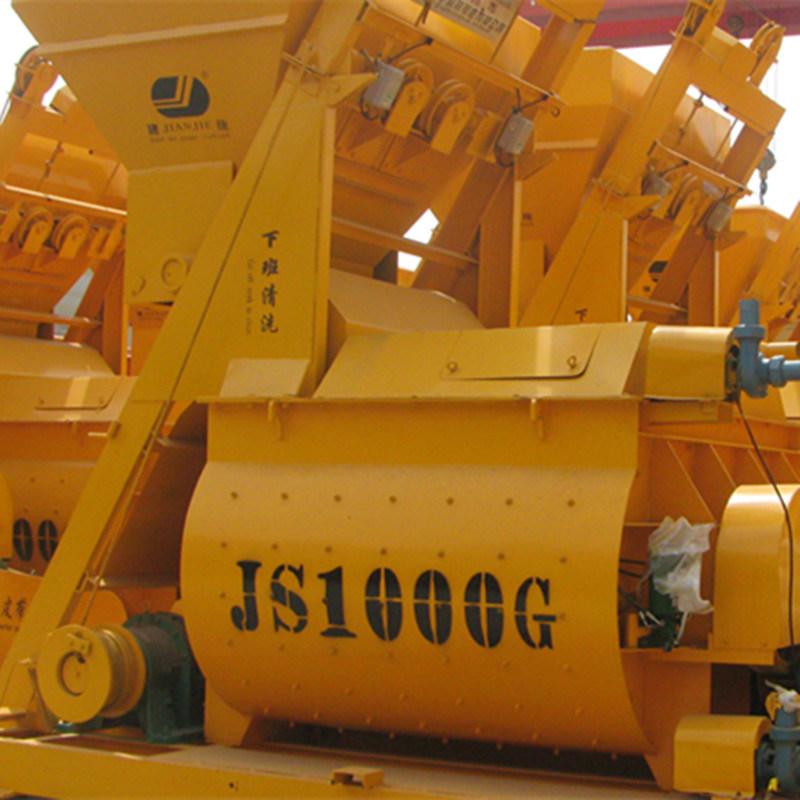 New Type Js1000II Twin Shaft Concrete Mixer