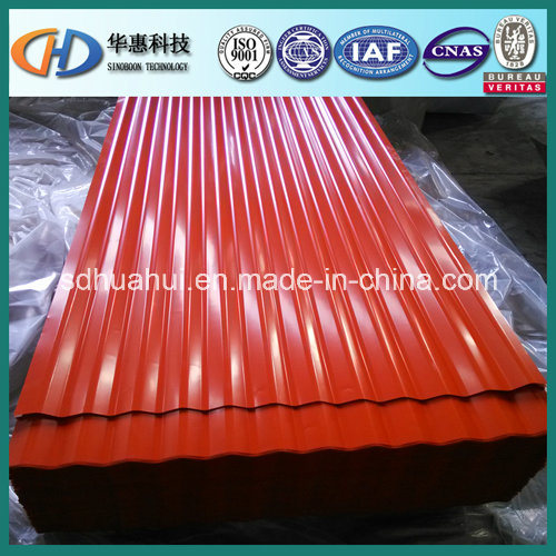 Corrugated Steel Roofing Sheet with 11 12waves