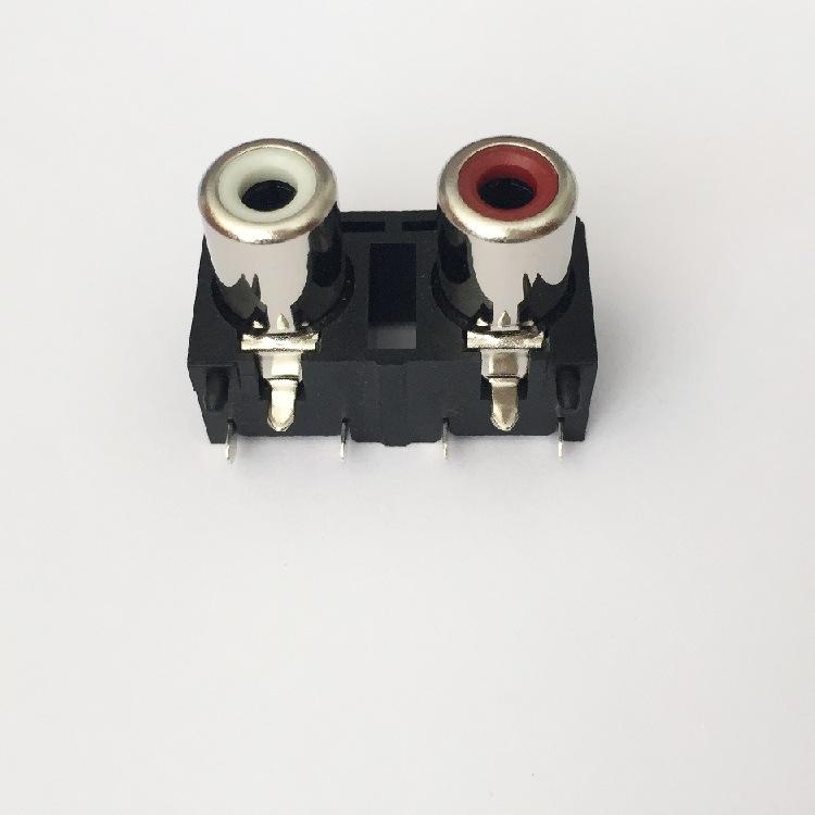 AV Socket with The Core Lotus Single-Hole RCA Socket Audio and Video Terminals AV2-8.4-20