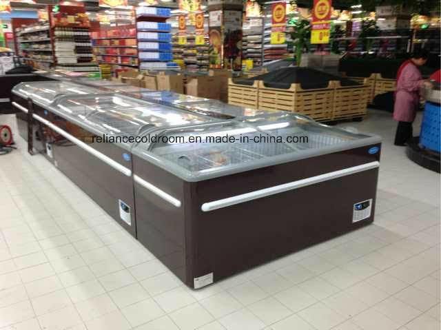 Commercial Island Freezer with Sliding Door