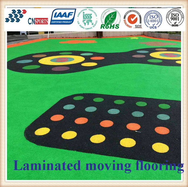 EPDM Soft Surface Floor Tiles/Rubber Flooring for Outdoor Sports Court