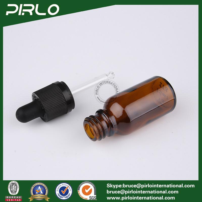 20ml 30ml 50ml 100ml Amber Luxury Glass Bottles E-Liquid Glass Dropper Bottles