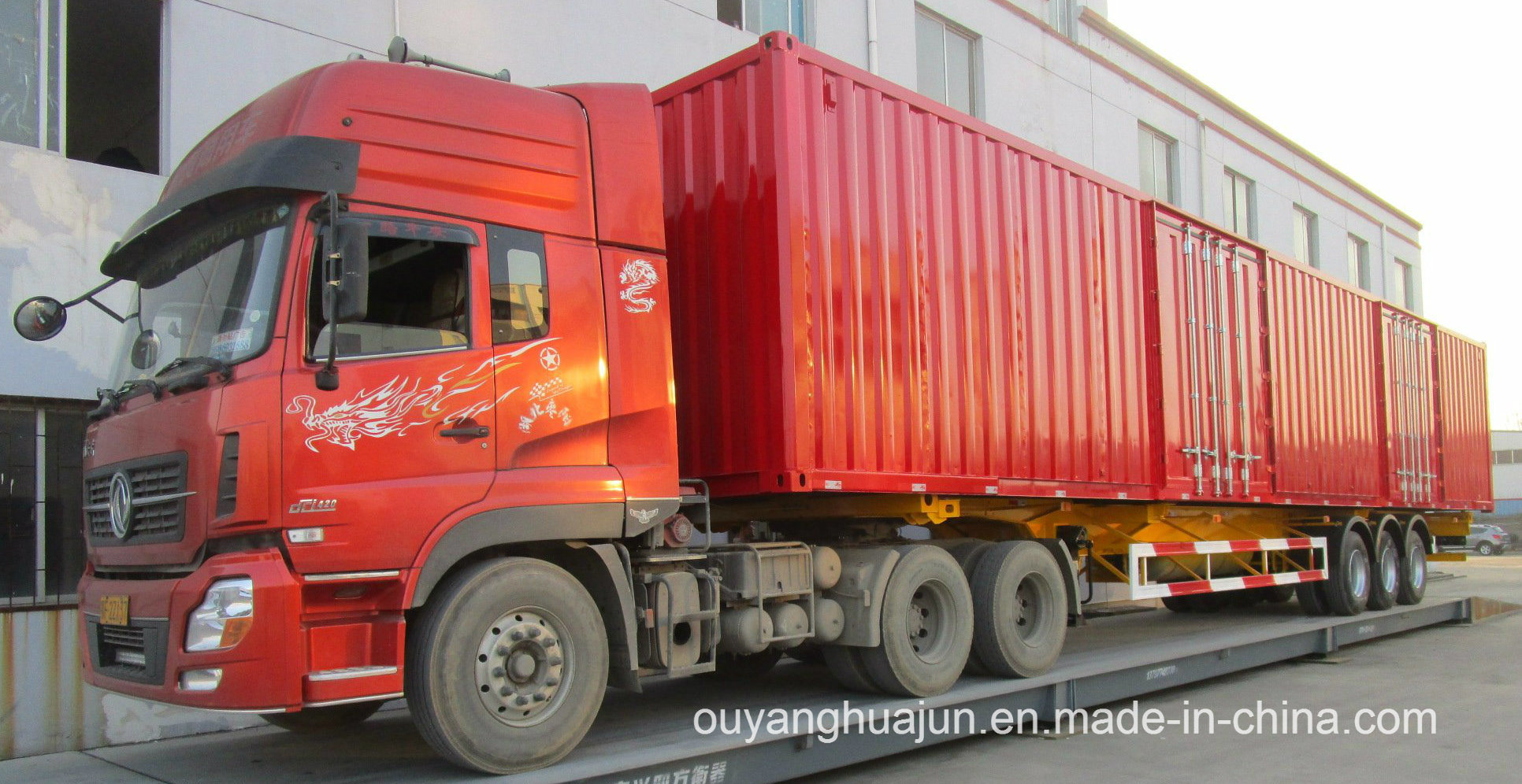 50 Feet Van Type Container Semitrailer