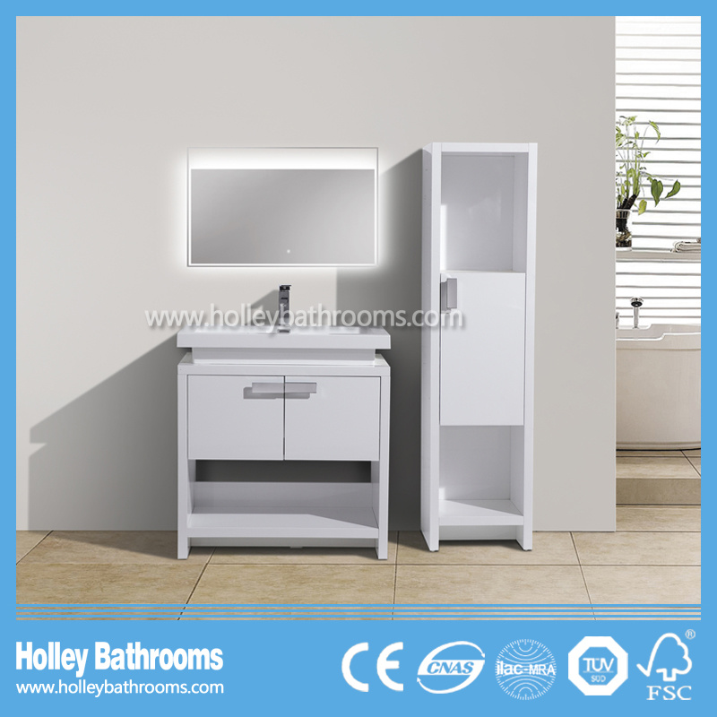 Special Modern Floor Mounted Bathroom Accessory with Side Cabinet (BF385D)