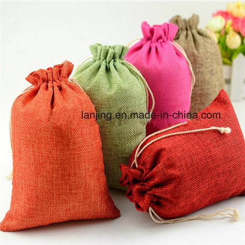 Eco Freindly Promotional Drawstring Jute Bag Jute Gunny Bag Used Jute Sack Wholesale