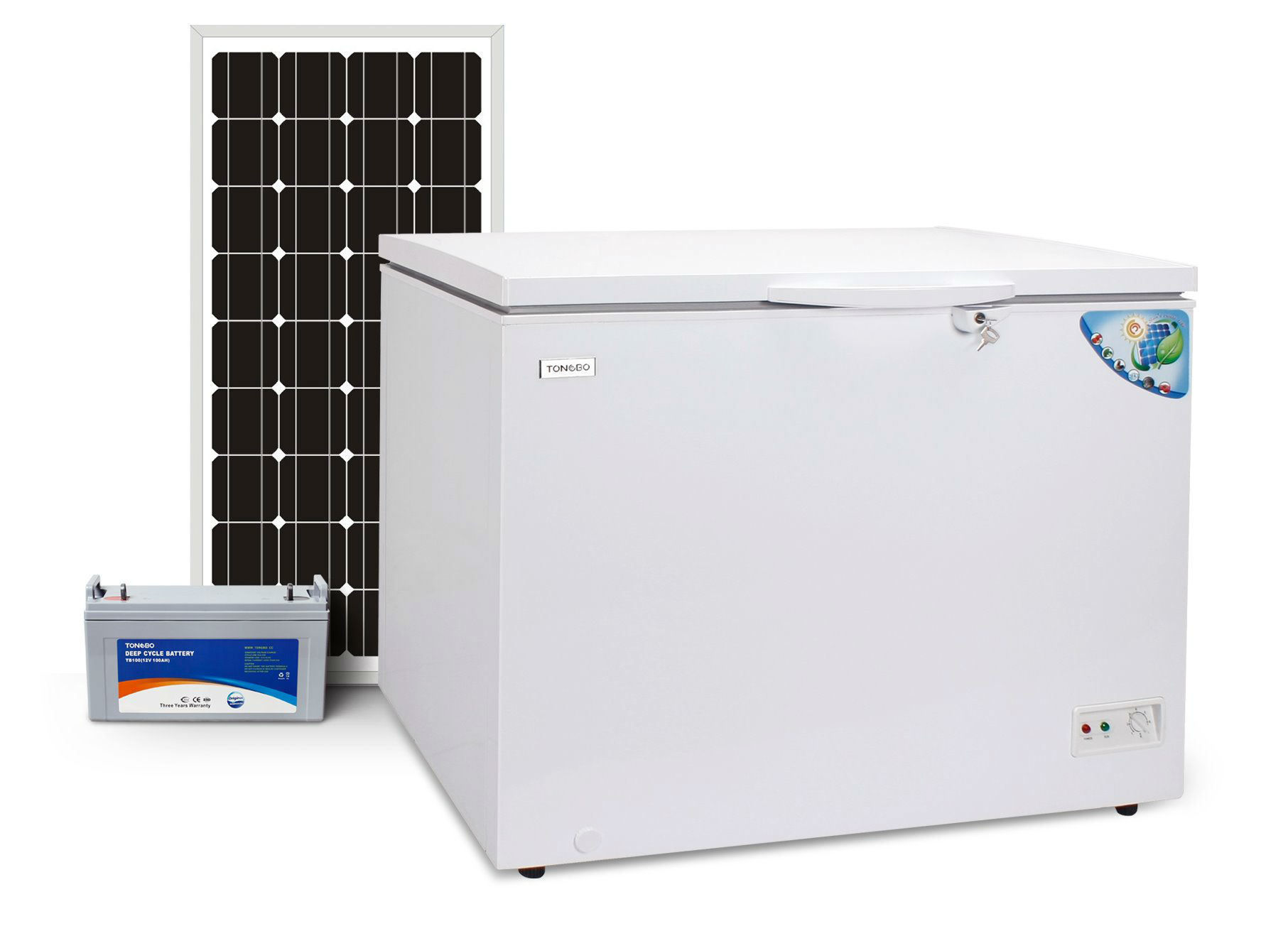 off Grid 100% Solar Powered DC 12V 24V Chest Freezer 230L