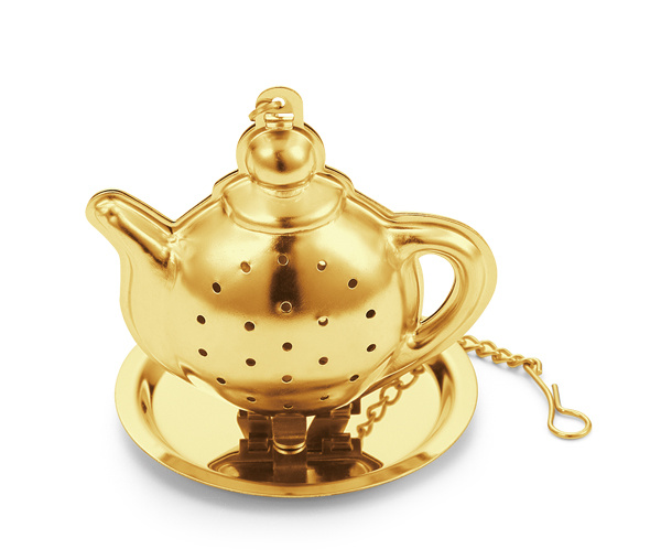 Mini Tea Pot Tea Cup Infuser with Chain Tea Strainer