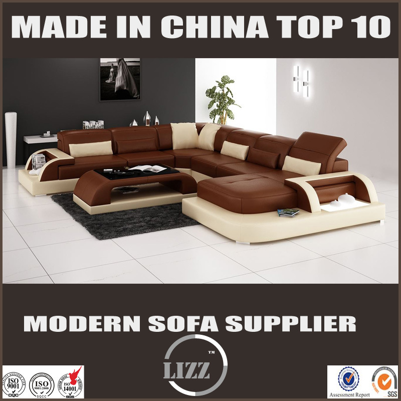 Home Furniture Fashion Design for Living Room Leather Sofa Set