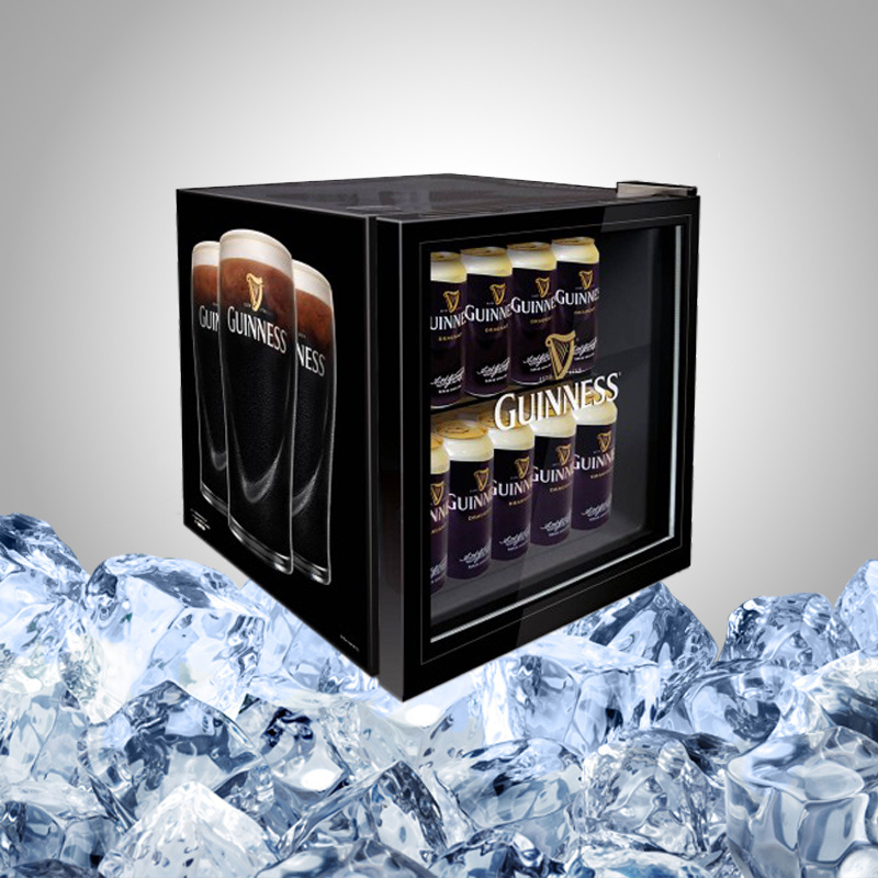 Display Mini Bar Fridge with Glass Door for Drink