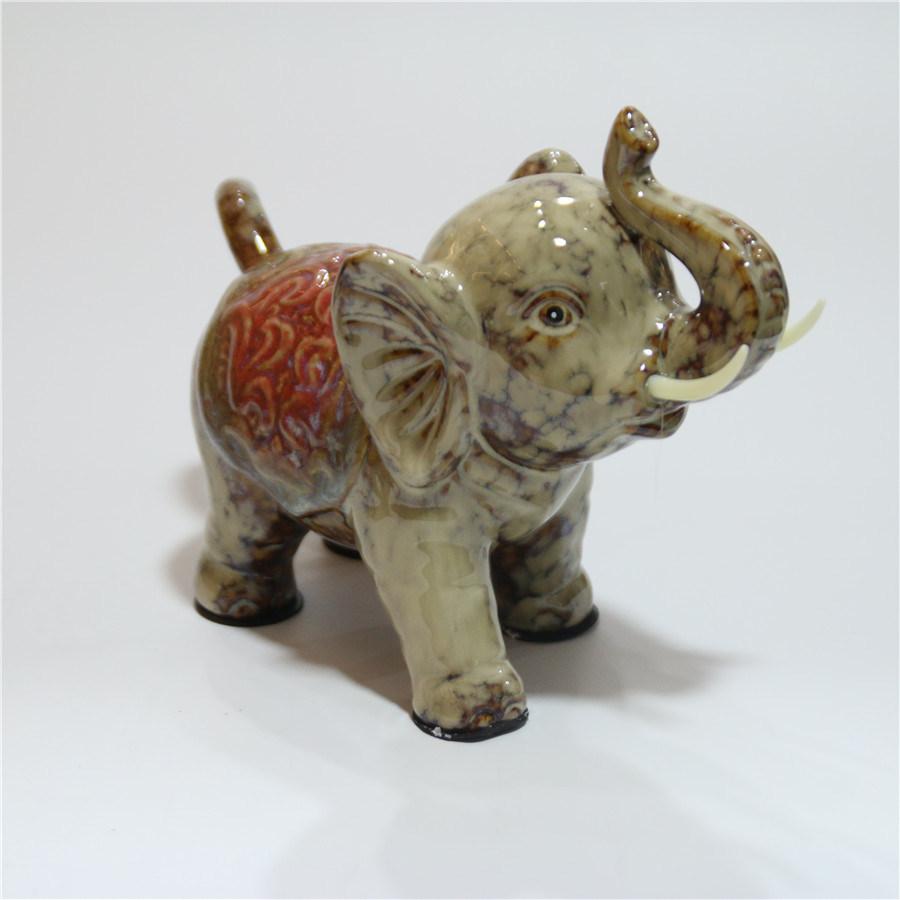 Ceramic Animal Elephant Home Office Decoration Furnishing