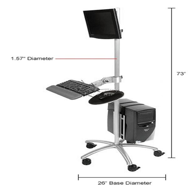 Mobile Standing Computer Workstation for Hospital