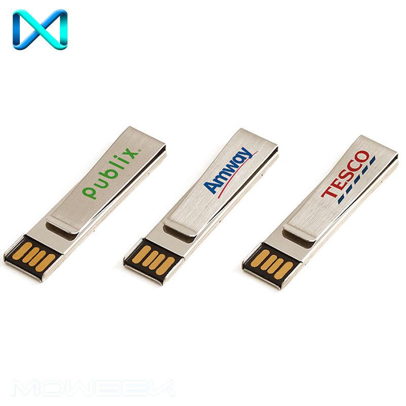 Popular Metal Paper Clip Stick USB Flash Driver