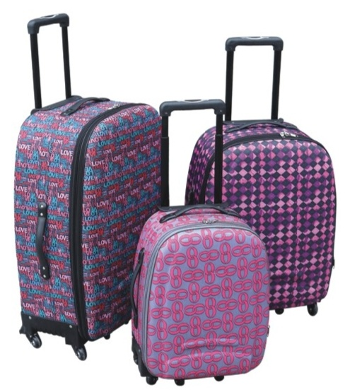 Soft Inside Trolley Case Luggage with Universal Wheel 600d
