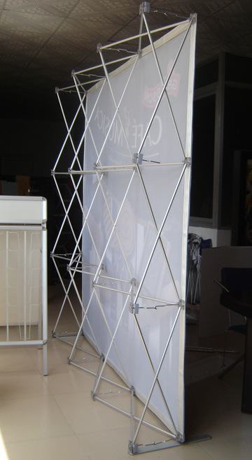 Exhibition Fabric Pop Us Backdrop Stand Display (PU-10-B)