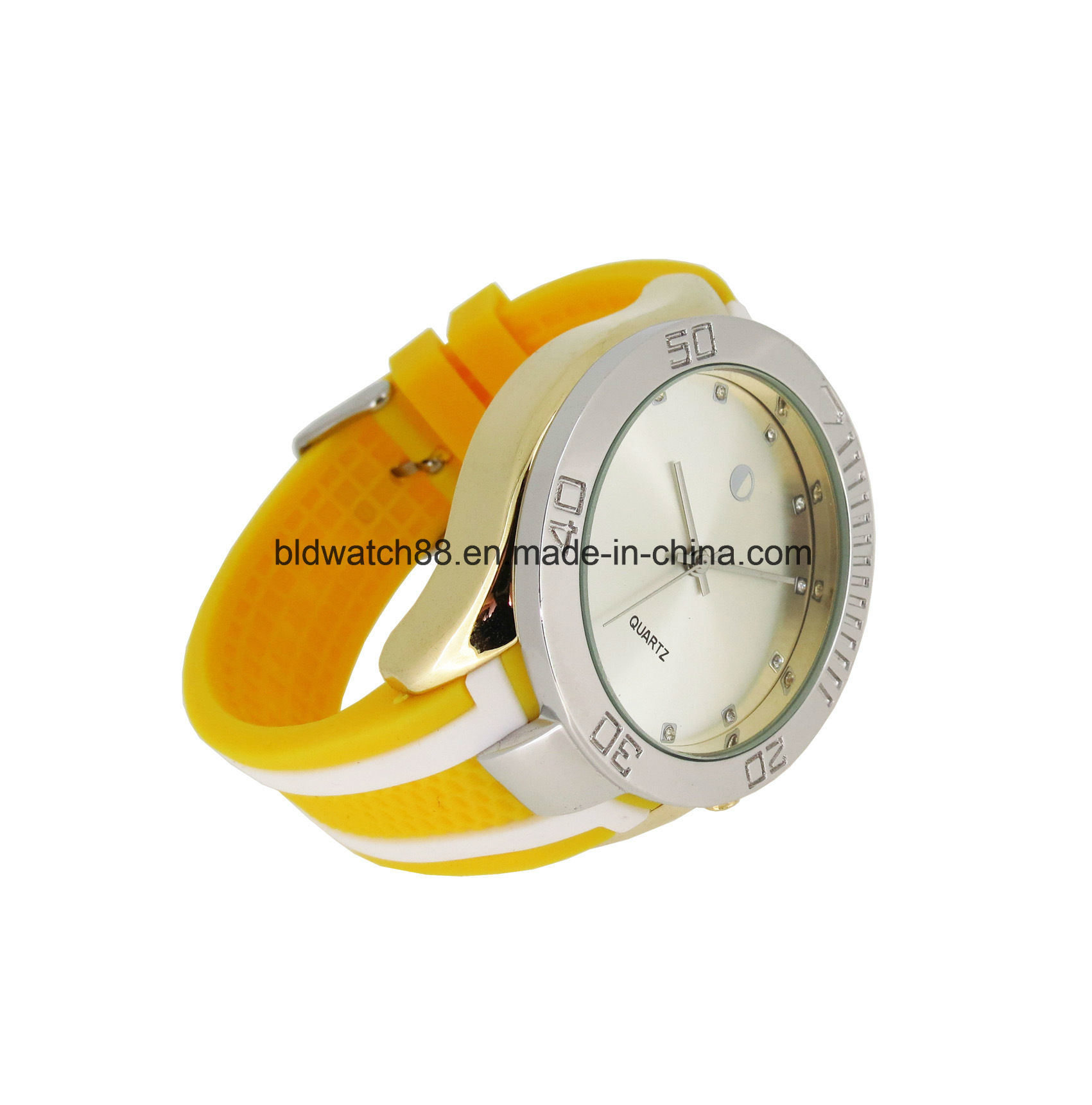 Mens Sports Silicone Wrist Watch with Japan Quartz Movement